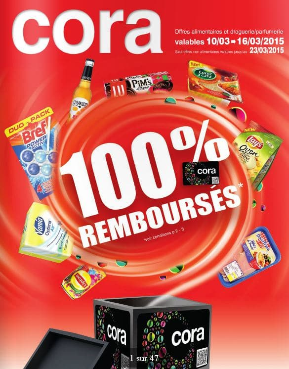 48 produits 100 rembours chez cora 100 rembours belgique. Black Bedroom Furniture Sets. Home Design Ideas